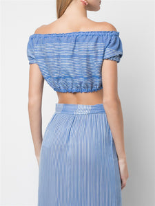 Zinab Cropped Puff Blouse
