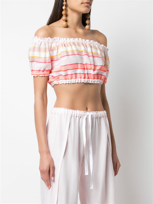 Eskedar Puff Cropped Top