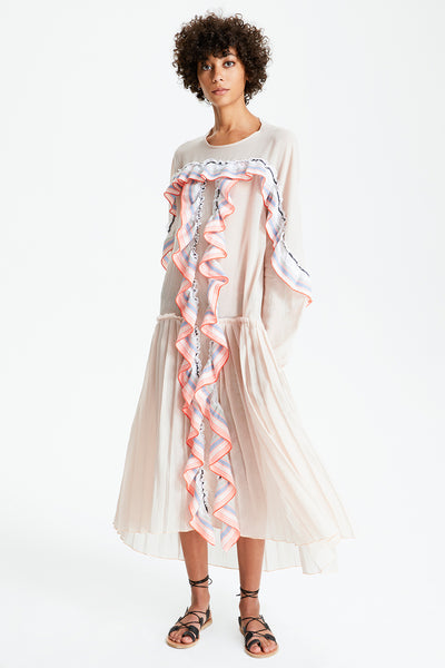 Zola Pleated Ruffle Dress