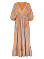Amira Orange Plunge Neck Dress