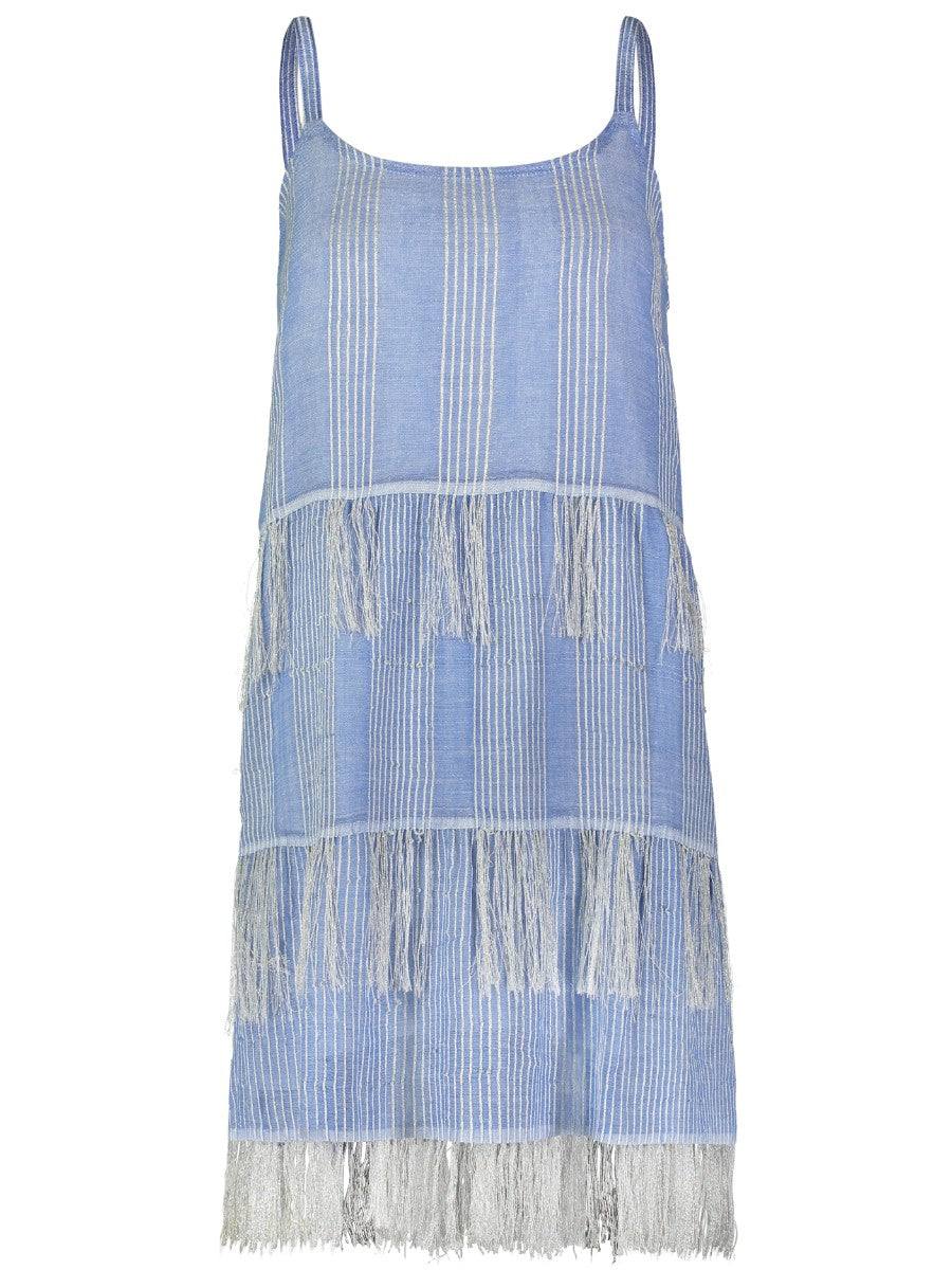 Zinab Fringe Slip Dress