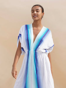 Teref Plunge Neck Dress