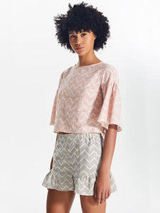 Imani Flared Sleeve Crop Top