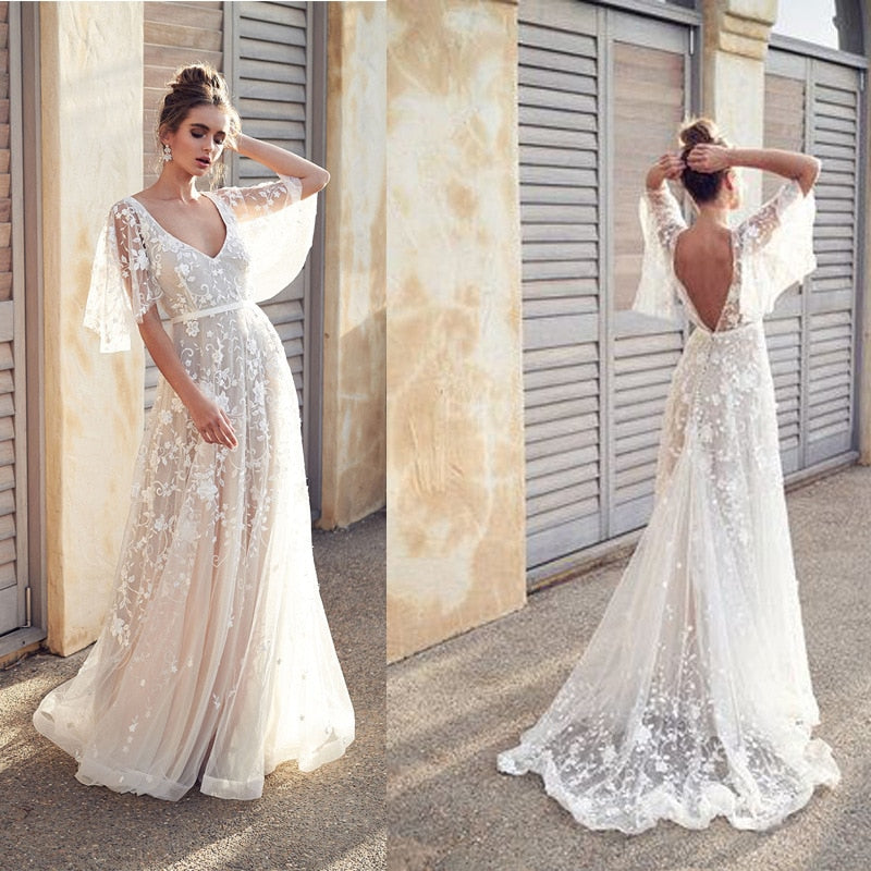 be8c39ac2e6c7 2019 New Women Dress Sexy Deep V Neck Casual Party Dress Backless  Sleeveless White Dresses Vacation Wear
