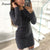 Fashion Winter Plush sweater Dress Women Party night Bodycon Christmas Black clothing Sexy Mini bandage knitted Dress For Female