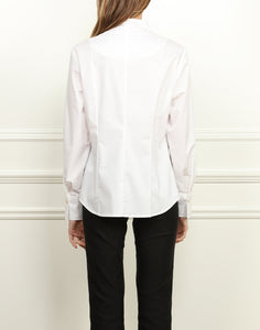 Jane Convertible Wing Collar Fitted Shirt White