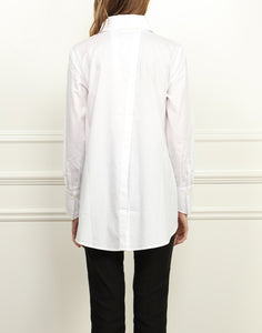 Audrey Button Back Tunic In White