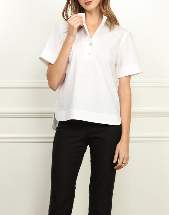 Aileen Short Sleeve Button Back Top