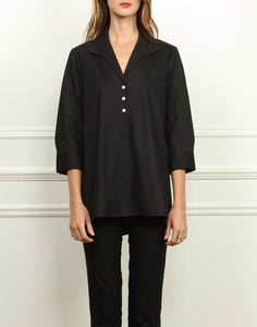 Betty Wing Collar A-line 3/4 Sleeve Tunic