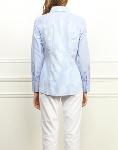 Diane Classic Fit Shirt In Mixed Blue Stripes