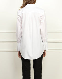 Faith Luxe Cotton Relaxed Fit Tunic In White