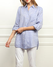 Load image into Gallery viewer, Chelsea Luxe Linen Roll Tab Oversized Shirt