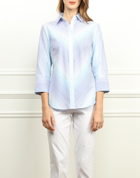 Clarice Luxe Cotton in Ombre Stripes