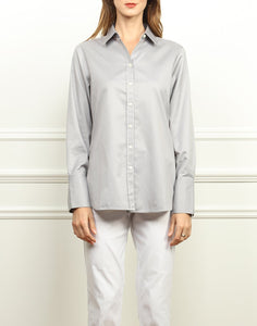 Meghan Luxe Cotton Shirt In Tahitian Pearl and White Stripe