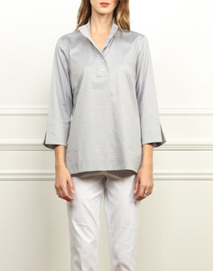 Aileen Button Back Tunic in Tahitian Pearl