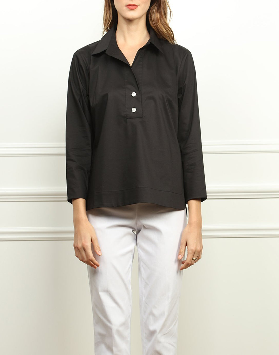 Aileen Button Back Collared Top