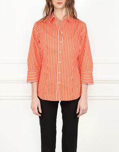 Diane Classic Fit Shirt In Orange/White Stripe