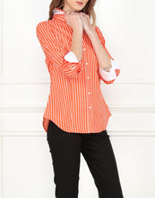 Load image into Gallery viewer, Diane Classic Fit Shirt In Orange/White Stripe