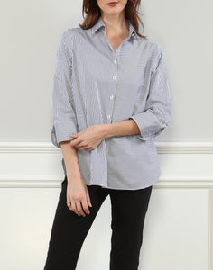 Margot Relax Fit Shirt In Stripe/Check