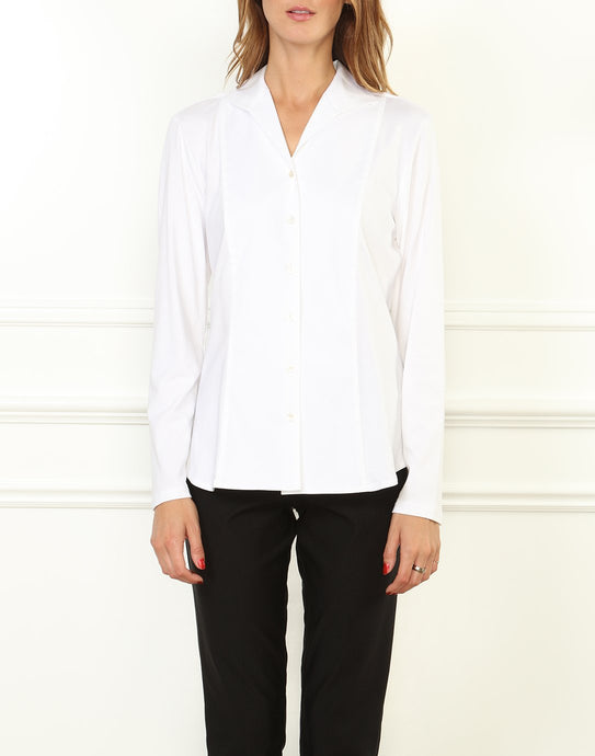 Donna Long Sleeve Wing Collar