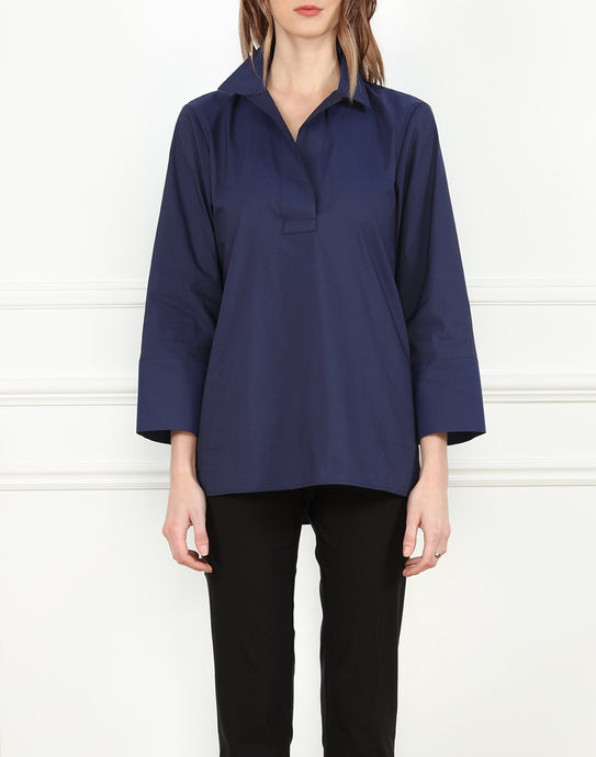 Salina Popover Top in Stretch Taffeta