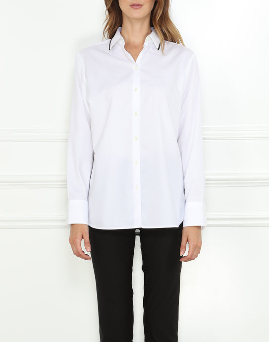 Margot Long Sleeve Luxe Cotton Relaxed Fit Shirt