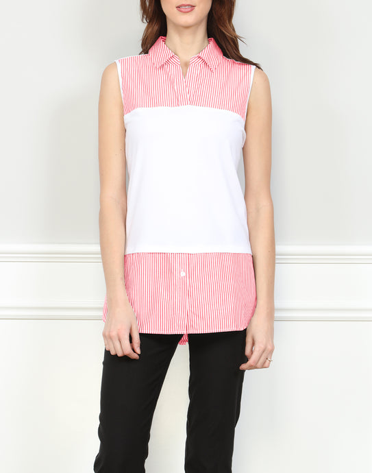 Lea Sleeveless Foundation Layer In Stripes