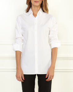 Meghan Luxe Cotton LS Relaxed Shadow Striped Shirt
