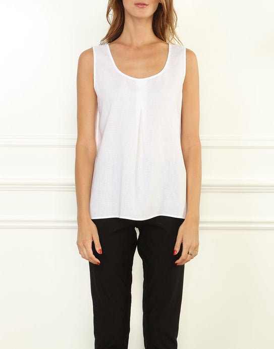 Holly Luxe Linen Convertible Neckline Tank