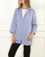 Load image into Gallery viewer, Haley Luxe Linen 3/4 Sleeve Notched Lapel Jacket