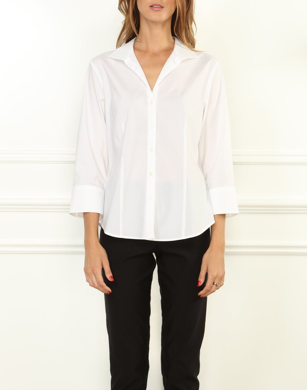 Joselyn Stretch Luxe Cotton 3/4 Sleeve Shirt