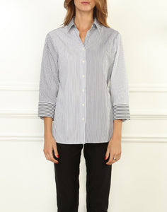 Margot 3/4 Sleeve Mixed Stripe Shirt