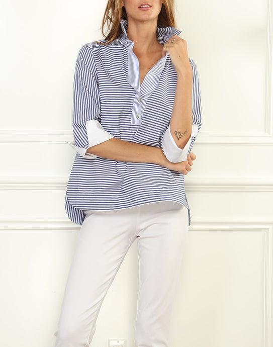 Aileen 3/4 Sleeve Stripe Shirt