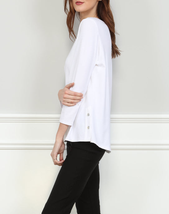 Paloma 3/4 Sleeve With Button Side Vents