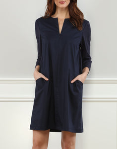 Raquel 3/4 Sleeve Woven/Knit Mixed Dress