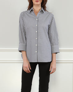 Margot Relax Fit Shirt In Stripe/Gingham