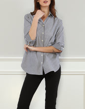 Load image into Gallery viewer, Margot Relax Fit Shirt In Stripe/Gingham