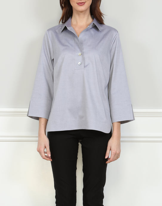 Aileen 3/4 Sleeve Top In Tahitian Pearl