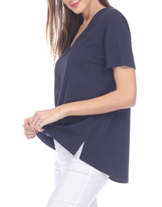 Christy Short Sleeve V-Neck Tee Shirt
