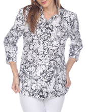 Load image into Gallery viewer, Margot 3/4 Sleeve Marble Printed Shirt