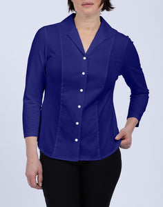 "Donna 3/4 Sleeve Wing Collar ""T"" Shirt"