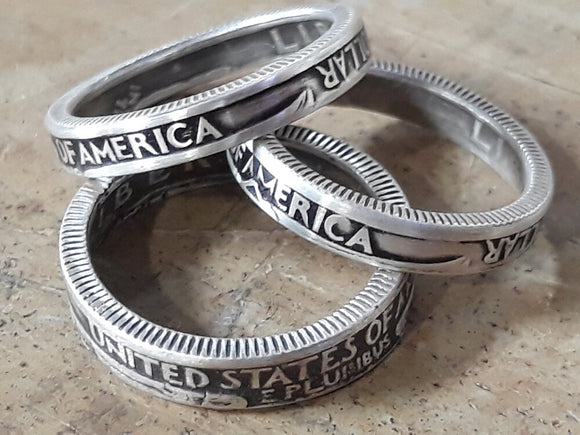 Silver Stackable Quarter Coin Ring