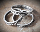 Silver Stackable Dime Coin Ring