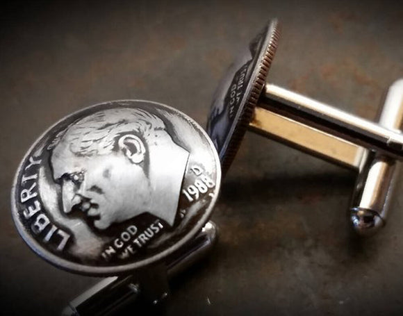 Custom Year Dime Cufflinks
