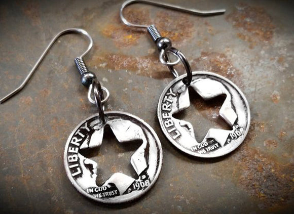 Dime Star Cutout Earrings