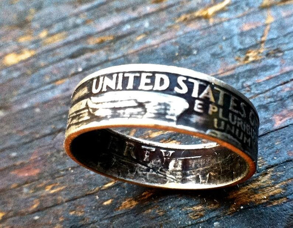 Silver Quarter Coin Ring