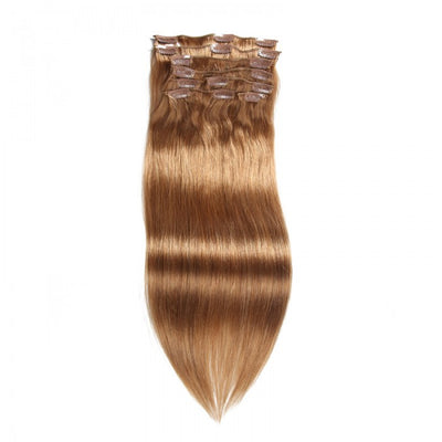 Ustar 100% Human Hair Quality Clip In Straight Hair Extensions #12