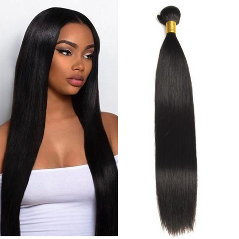 Ustar  100% Virgin Remy Hair Bundles Natural Color Straight 8 inch to 30 inch
