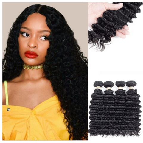 Ustar  Virgin Hair 4 Bundles Deep  Wave