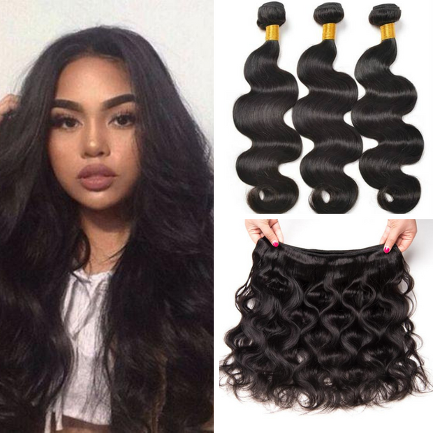 Ustar Unprocessed Virgin Human Hair 3 Bundles Body Wave